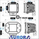 aurora recessed LED spread lights dimensions