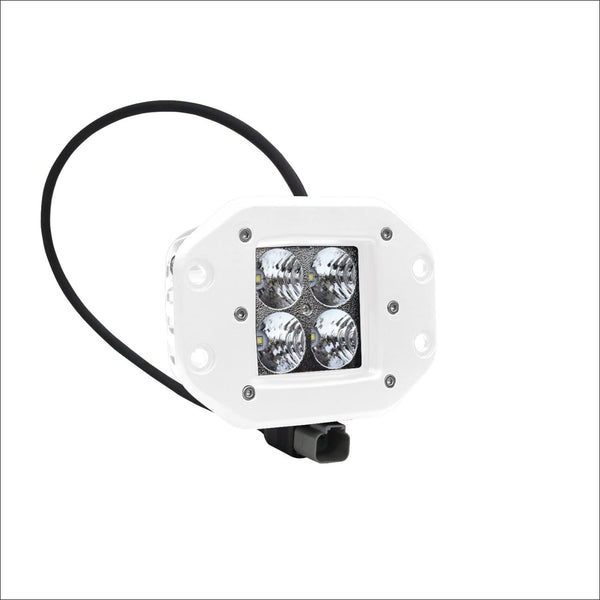 Aurora 3 Inch White Boat LED Light Pod Flush Mount Kit - 3 880 Lumens - Marine Lights