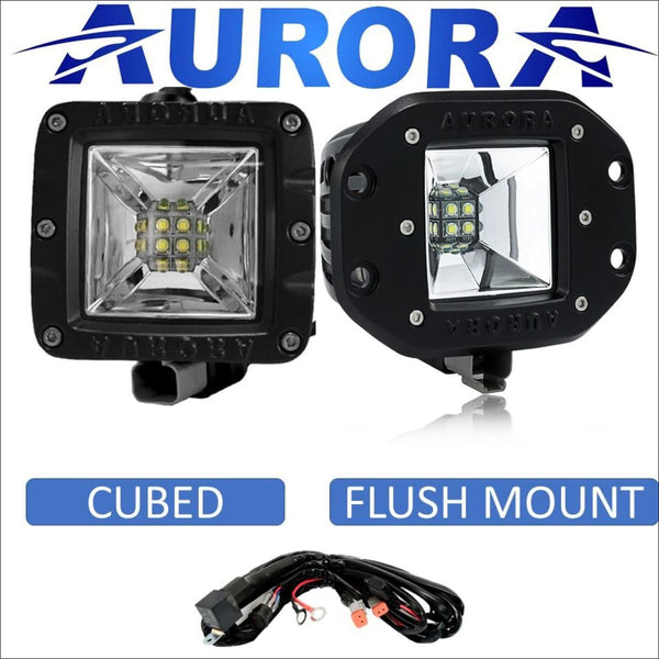 Aurora 3 Inch Wide Angle Scene Beam LED Light Kit - 3 880 Lumens - LED Light Pod