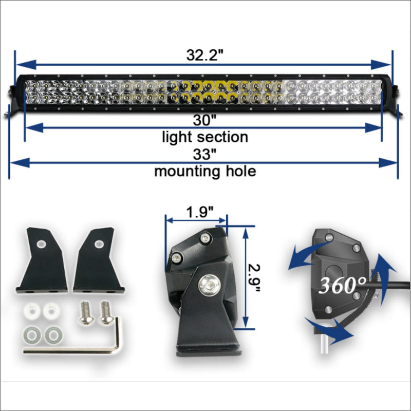 Aurora 30 Inch D5 Slim Series Light Bar - 12 540 Lumens - LED Light Bar