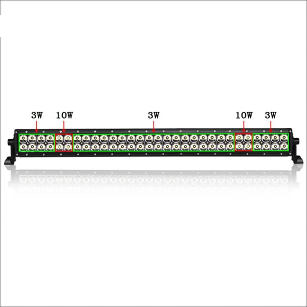 Aurora 30 Inch Dual Row Led Light Bar - Hybrid Series - 22 788 Lumens - Led Light Bar