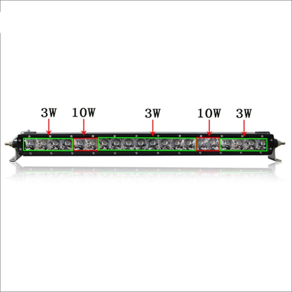 Aurora 30 Inch Single Row LED Light Bar - Hybrid Series 11.394 Lumens - LED Light Bar
