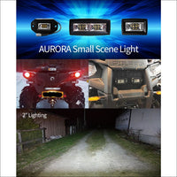 Aurora 4 Inch Scene LED Light Pod (QTY 2) - 3600 Lumens - LED Light Pod