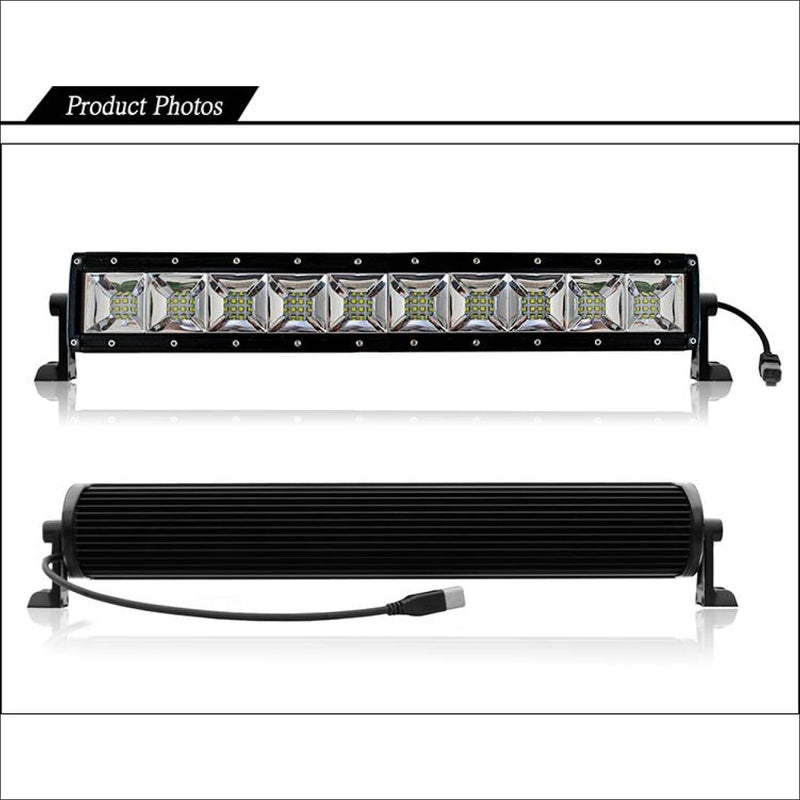 Aurora 40 Inch Dual Row LED Light Bar with Scene Beam Pattern