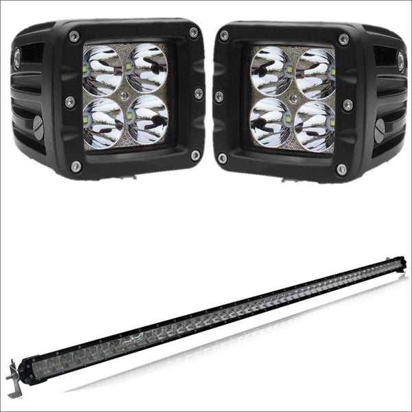 aurora-50-inch-single-row-light-bar-3-inch-pod-lights-bundle.