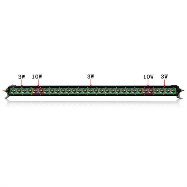 Aurora 40 Inch Single Row LED Light Bar - Hybrid Series 15 084 Lumens - LED Light Bar