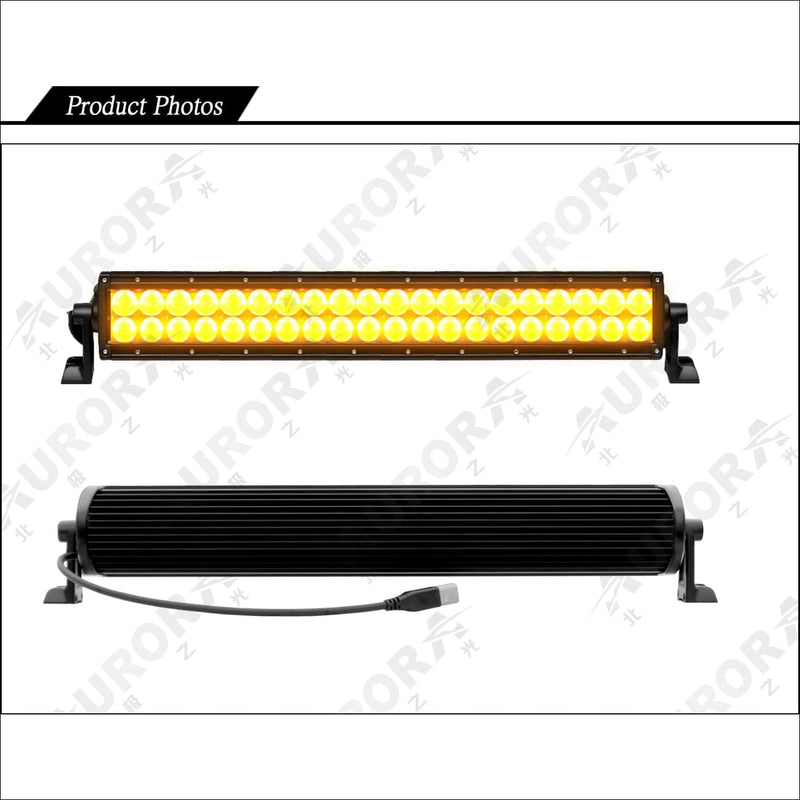 Aurora 50 Inch Amber Dual Row LED Light Bar - Amber LED Light Bar
