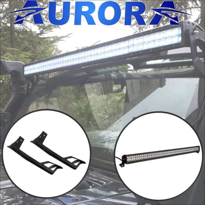 Aurora 50 Inch Light Bar Plus Mounts for Jeep Wrangler JK - Bundle