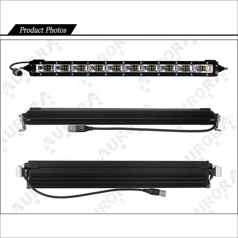 Aurora 50 Inch Single Row LED Light Bar with Scene Beam Pattern