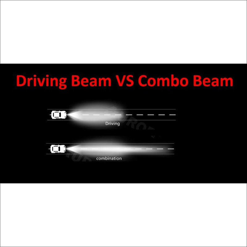 Aurora 6 Inch Single Row combination beam vs driving beam