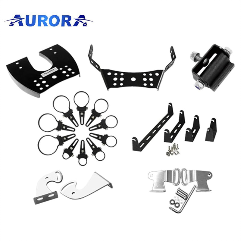 Aurora ATV Handle Bar Bracket for 10 Inch LED Light Bar - UTV/Dirt bike/Side by Side - Light Bar Mount - ATV-Dirt-Bike