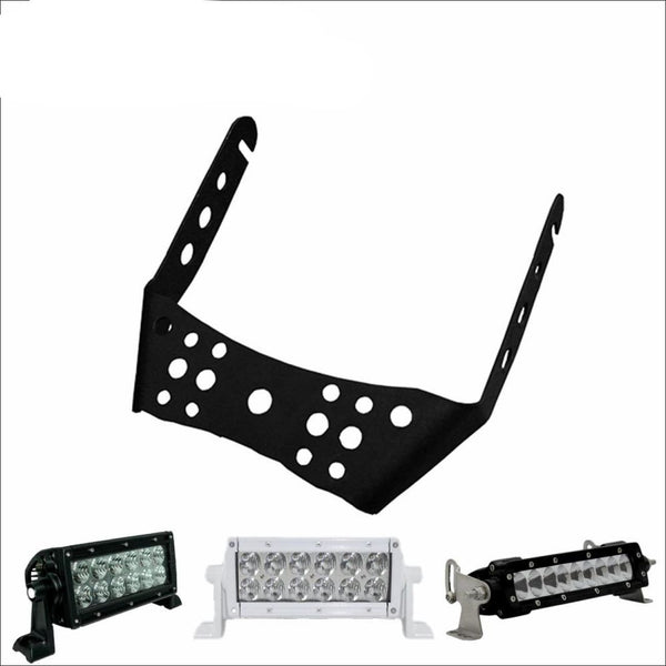 Aurora ATV Handle Bar Kit w/ 6 Inch LED Light Bar - Light Bar Mount - ATV-Dirt-Bike