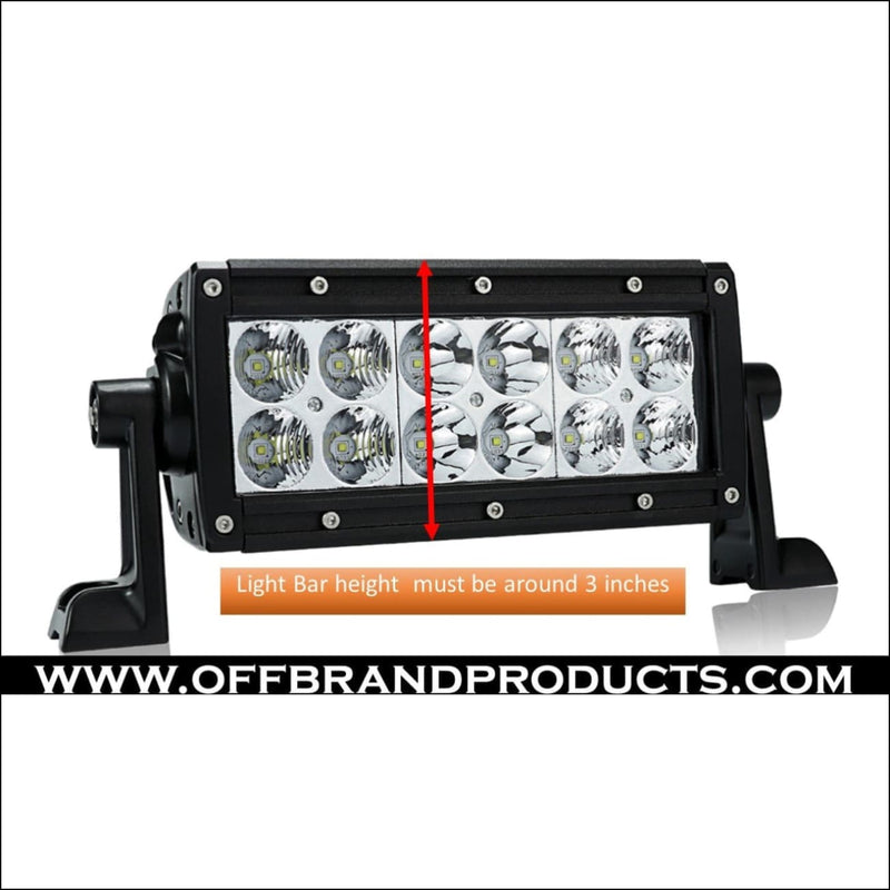 Aurora Black Series LED Light Bar Covers - Dual Row - LED Accessories - Light Bar Cover