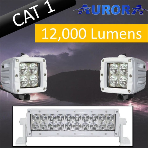 Aurora CAT 1 Bundle - 10 Inch Plus 3 Inch - 12 000 Lumens - Bundle