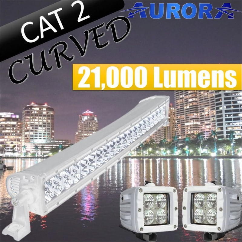 Aurora CAT 2 Bundle Curved - 20 Inch Plus 3 Inch - 21 000 Lumens - Bundle