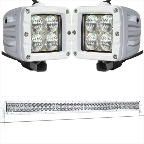 Aurora CAT 4 Bundle - 40 Inch Plus 3 Inch - 38,000 Lumens boat led light bar