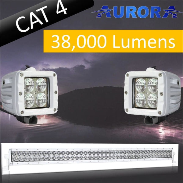 Aurora CAT 4 Bundle - 40 Inch Plus 3 Inch - 38 000 Lumens - Bundle