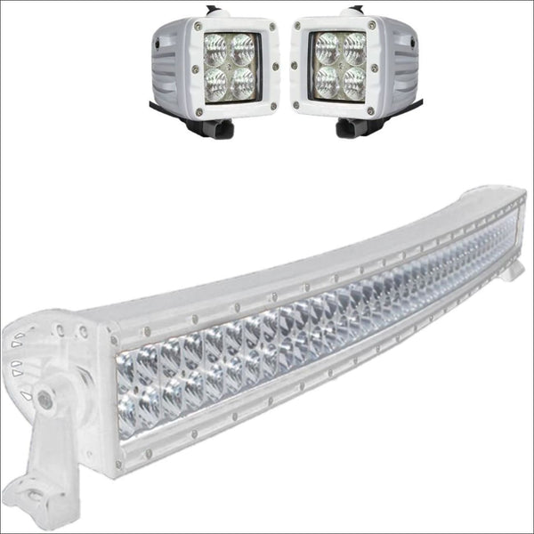 Aurora CAT 4 Bundle Curved - 40 Inch Plus 3 Inch - 38,000 Lumens boat light bar