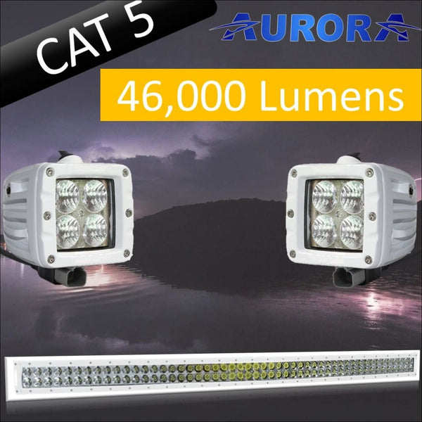 Aurora CAT 5 Bundle - 50 Inch Plus 3 Inch - 46 000 Lumens - Bundle
