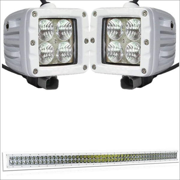 Aurora CAT 5 Bundle - 50 Inch Plus 3 Inch - 46,000 Lumens boat light bar