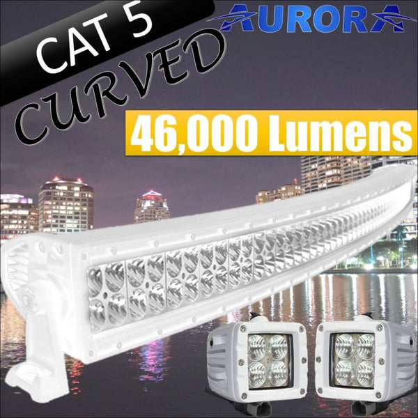 Aurora CAT 5 Bundle Curved - 50 Inch Plus 3 Inch - 46 000 Lumens - Bundle