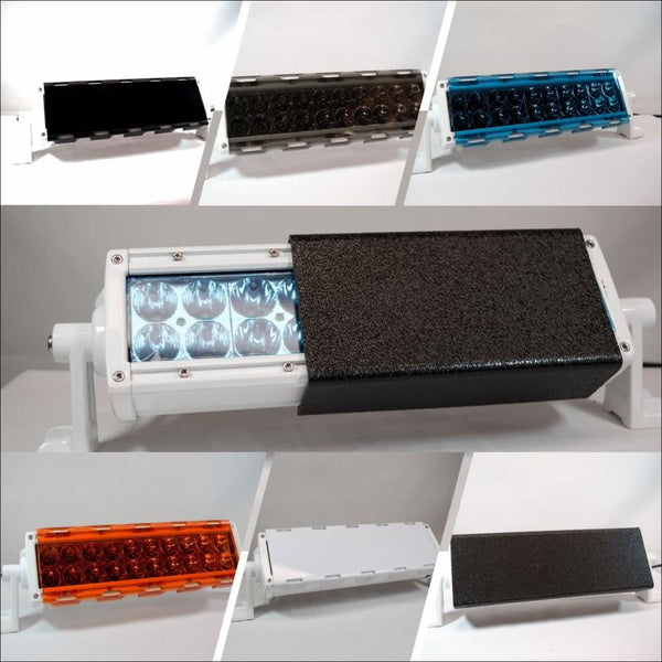 Aurora Dual Row Light Bar Covers - double row light bar covers amber light bar covers black light bar covers
