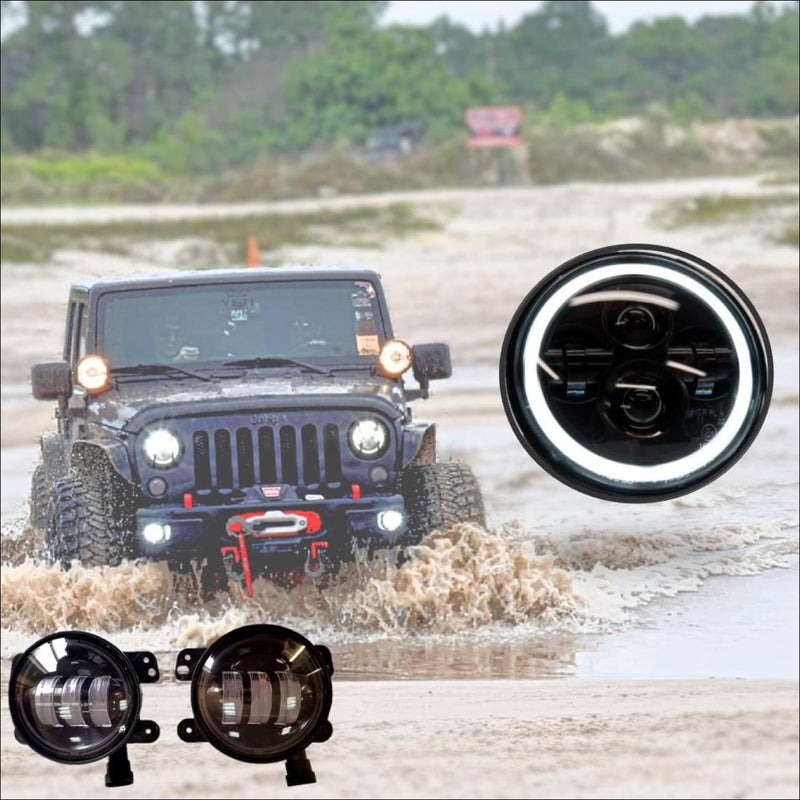 jeep wrangler led headlights jeep wrangler led fog lights