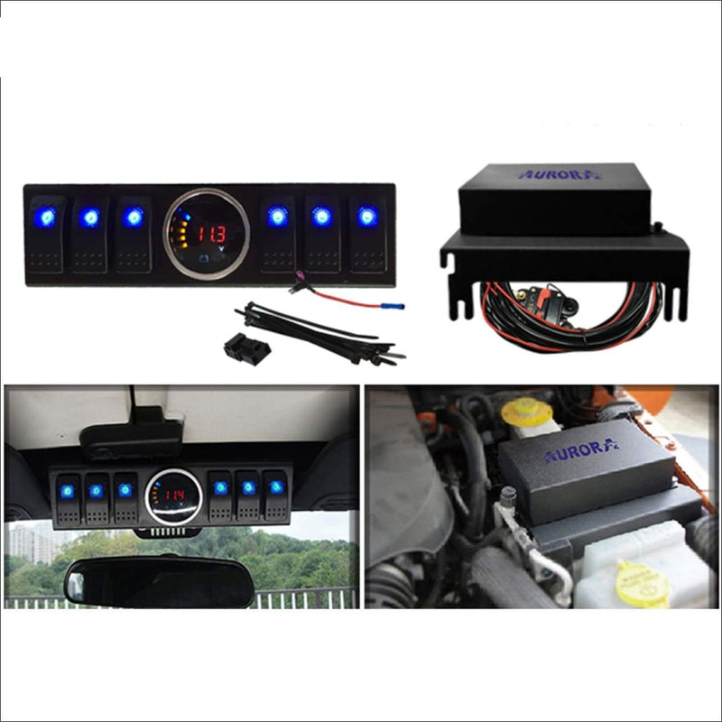Aurora Jeep Wrangler 6-Switch Panel - LED Accessories Switch