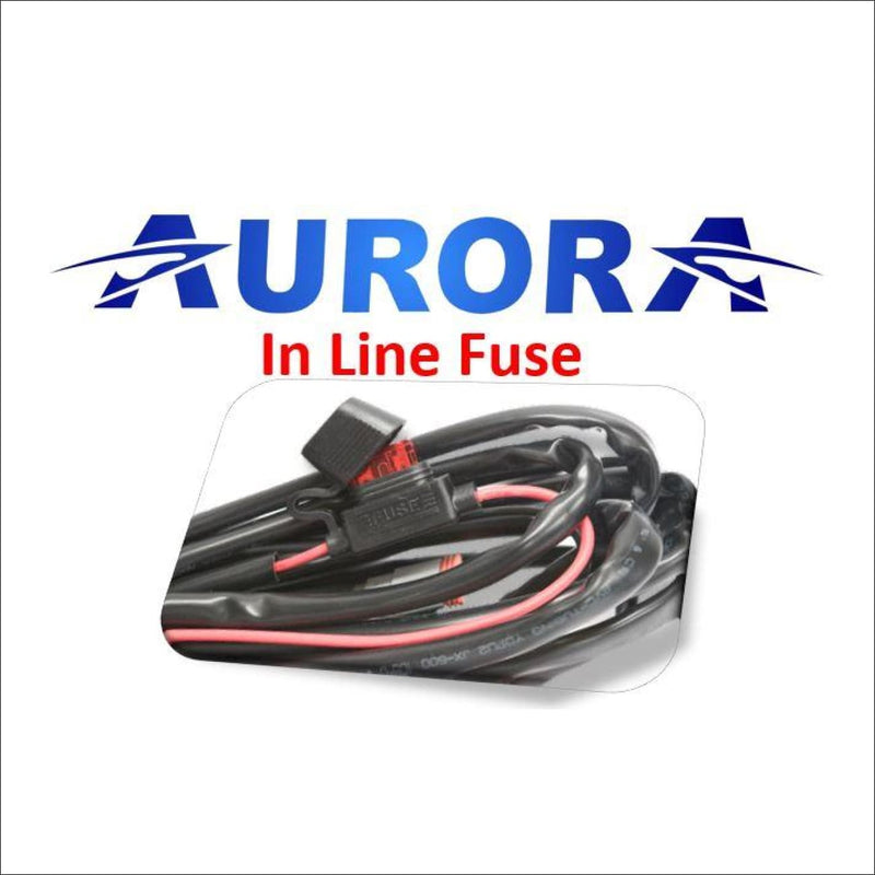 Aurora LED Light Wiring Harness Kit for a Pair of Pods Cubed and Work Lights - LED Accessories Wiring Harness