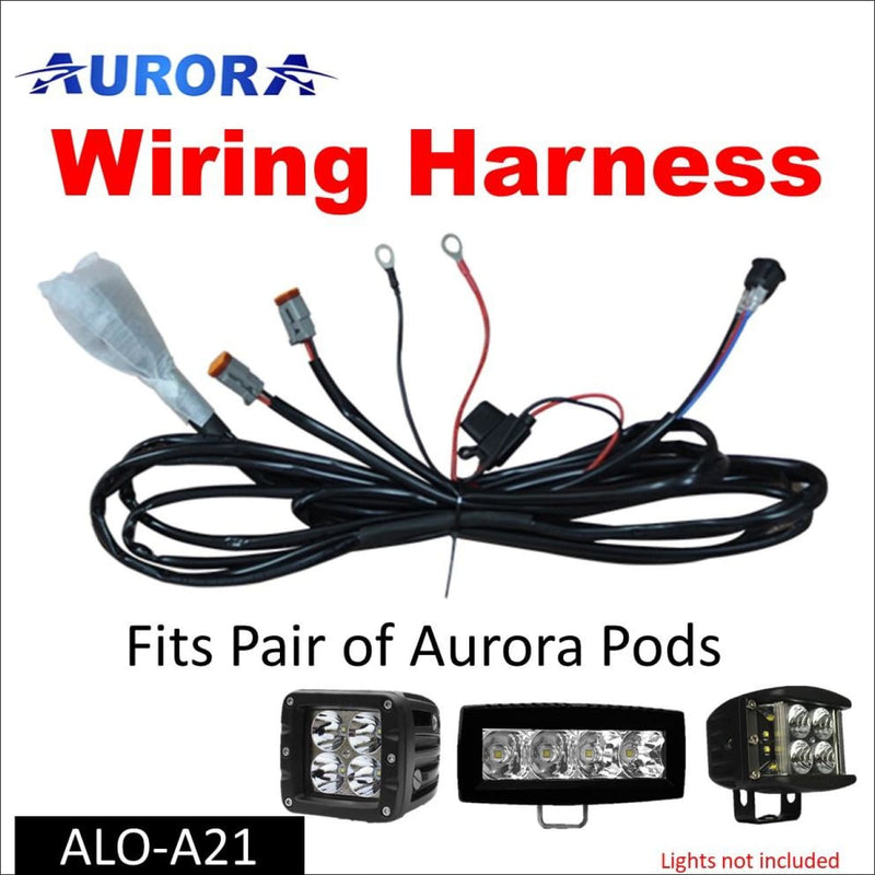 Aurora LED Light Pod Wiring Harness Kit - Pair of Pods - Cubes and Work  Lights – OBP