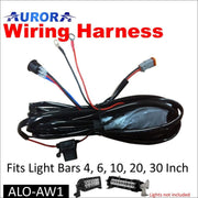 Aurora LED Light Wiring Harness Kit for LED Light Bars 4 to 30 - LED Accessories Wiring Harness