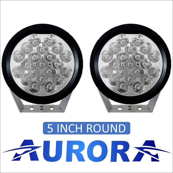 Aurora 5 Inch Round LED Light Kit - 11 382 Lumens - LED Driving Light