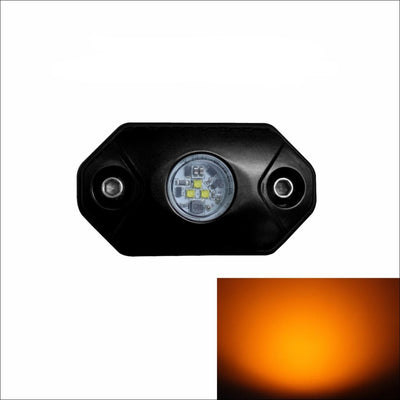 Aurora Single Multipurpose LED Rock Light - Amber Beam - LED Rock Light
