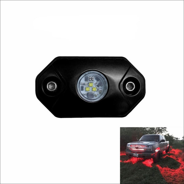 Aurora Single Multipurpose LED Rock Light - Red Beam - LED Rock Light