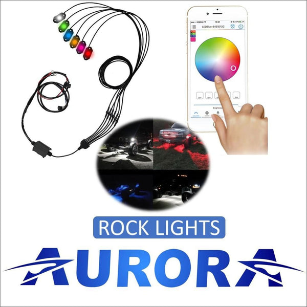 Aurora Waterproof Multi-Color LED Rock Light Kit - LED Rock Light