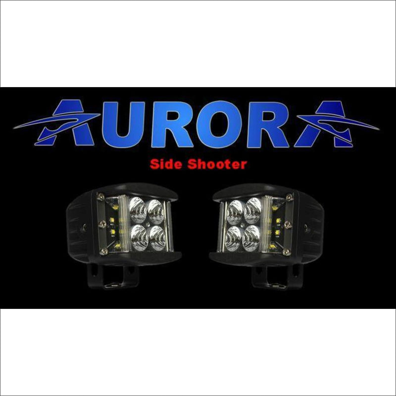 Jeep Wrangler JK 2007-2017 50 Light Bar & LED Cube Light Kit by Aurora - Side Shooter - Bundle