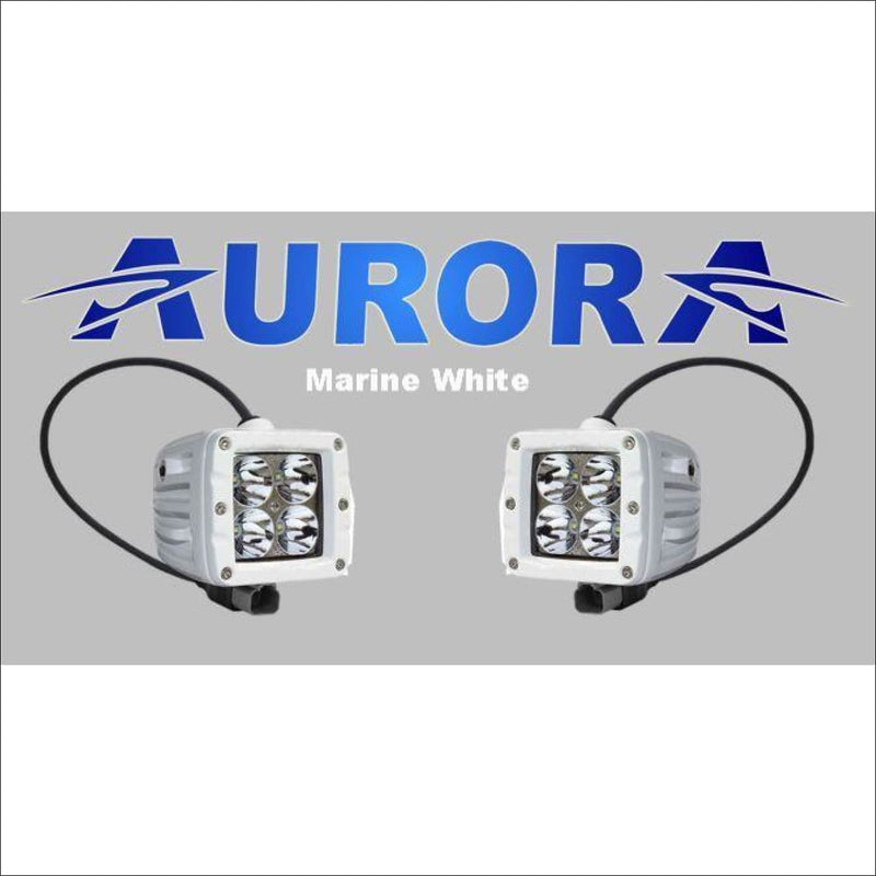 Jeep Wrangler JK 2007-2017 50 Light Bar & LED Cube Light Kit by Aurora - Marine White - Bundle