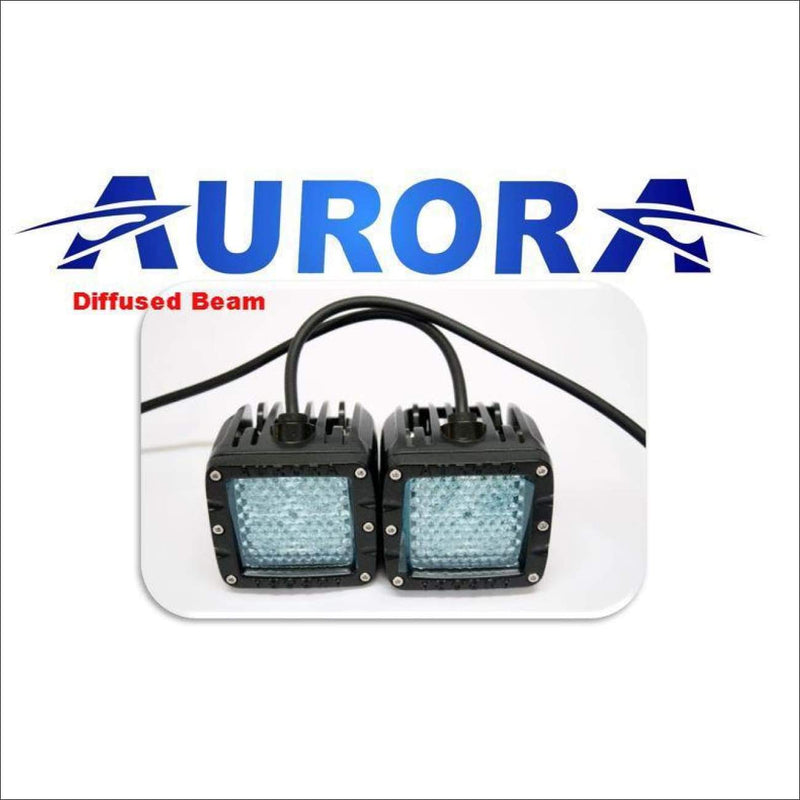 Jeep Wrangler JK 2007-2017 50 Light Bar & LED Cube Light Kit by Aurora - Diffused Beam Pattern - Bundle