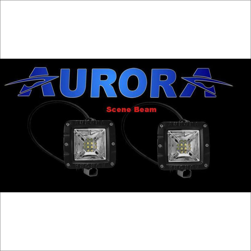 Jeep Wrangler JK 2007-2017 50 Light Bar & LED Cube Light Kit by Aurora - Scene Beam Pattern - Bundle