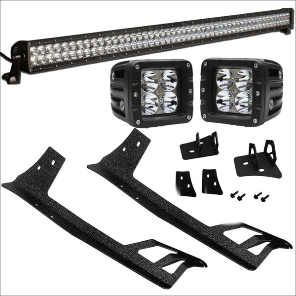 Jeep-wrangler-led-pod-light-50-inch-led-light-bar-bundle-aurora.