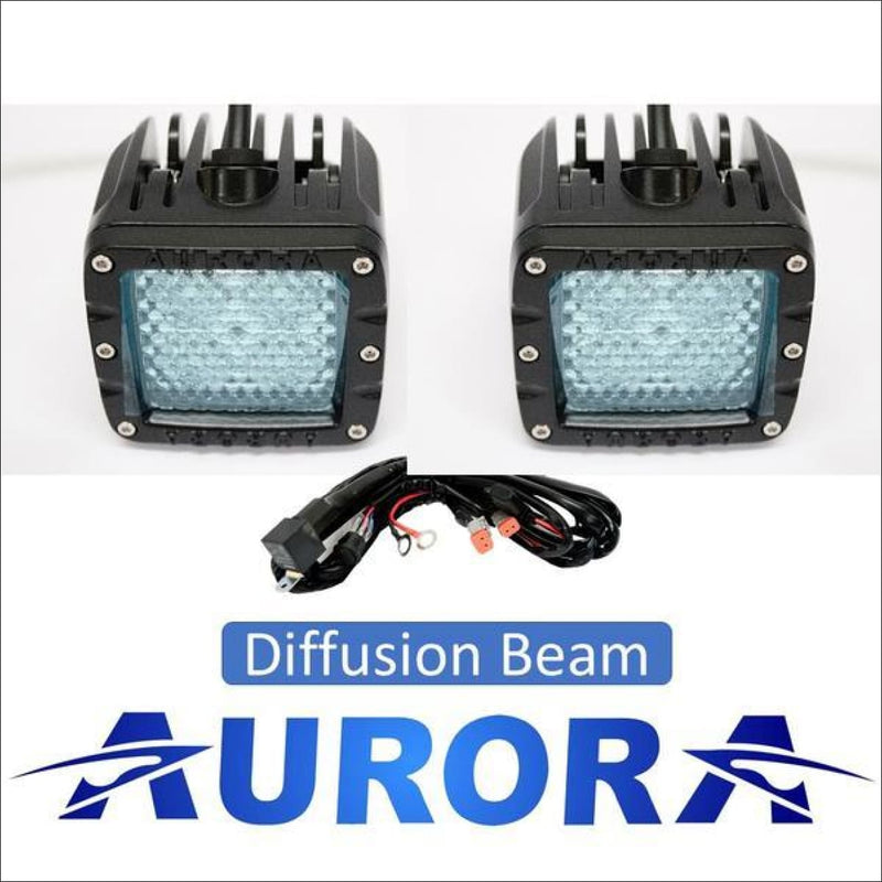 Jeep wrangler diffusion beam light pods