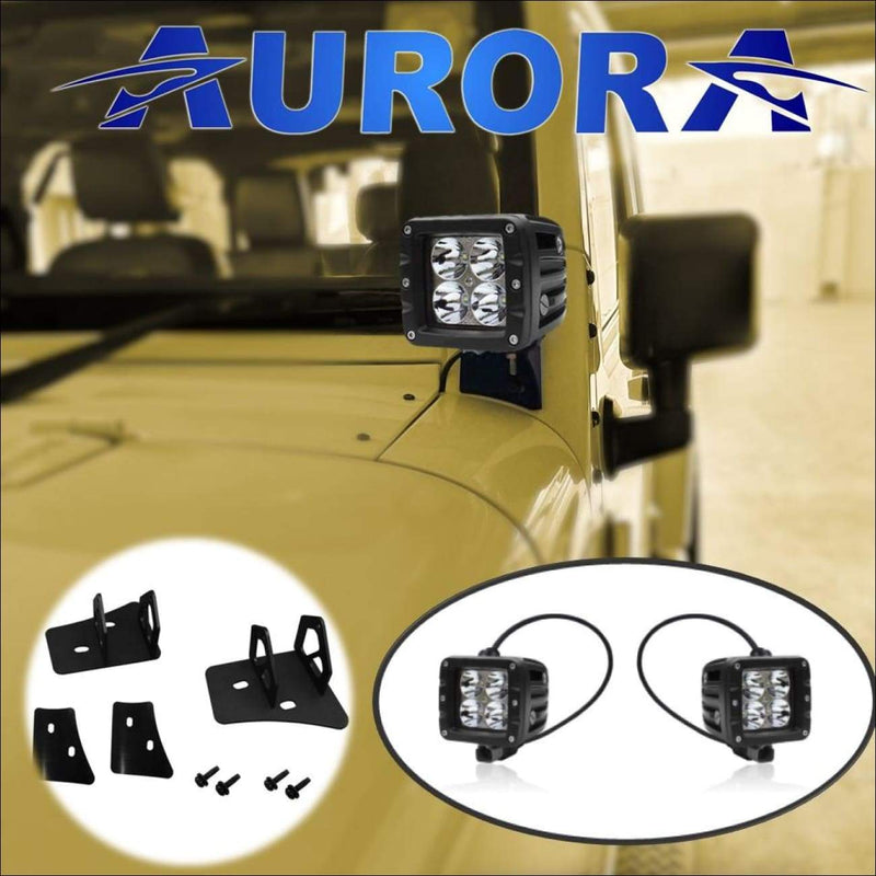 jeep wrangler led pod lights and mounts aurora