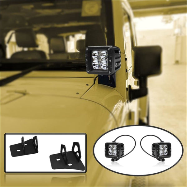 aurora jeep wrangler LED pod mount