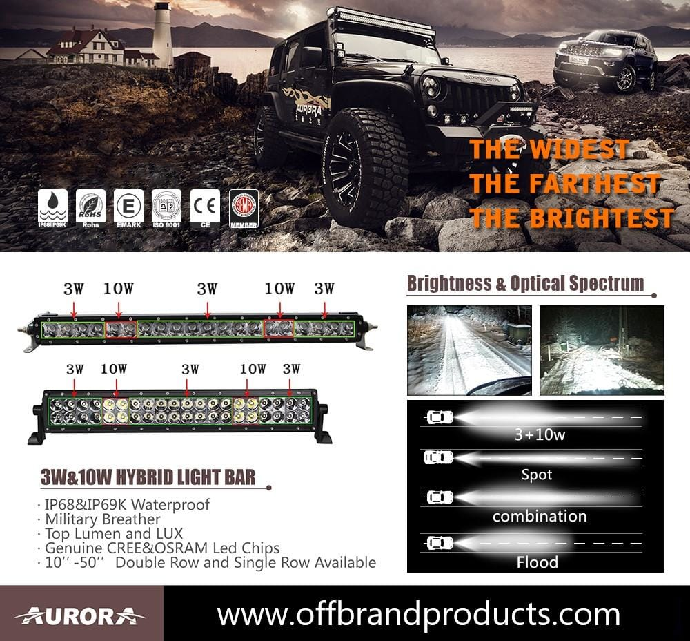 aurora hybrid led light bars