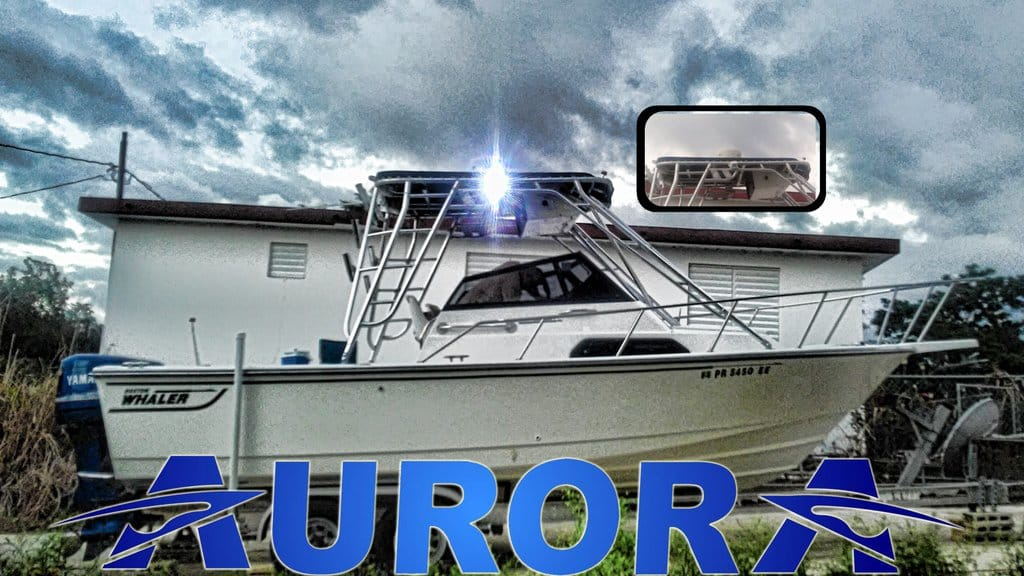aurora led spreader lights - boston whaler led flood lights