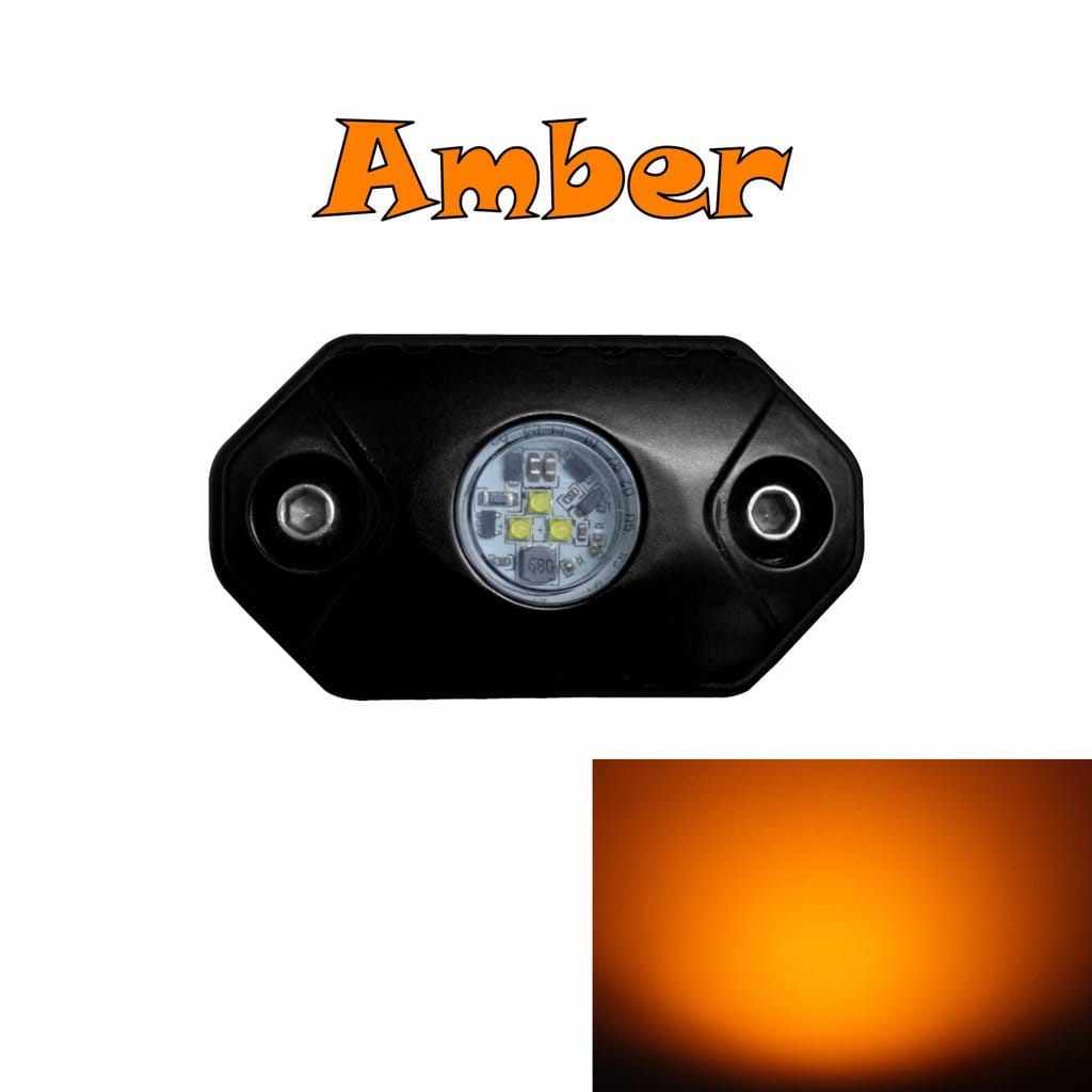aurora amber led rock light