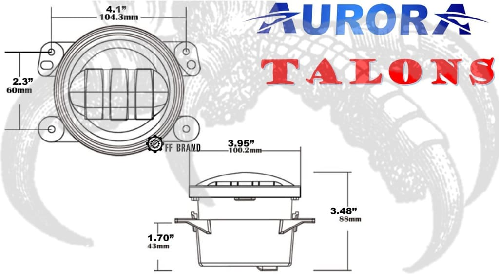 aurora talon led fog light kit