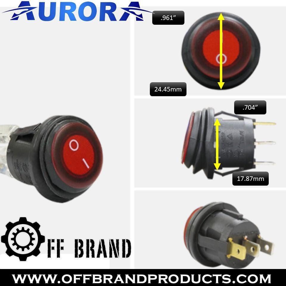 aurora waterproof led light bar switch