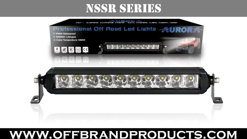 Aurora ATV led light bar 10 inch NSSR series