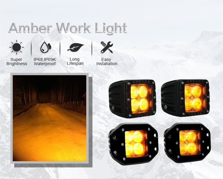 aurora amber led light pods